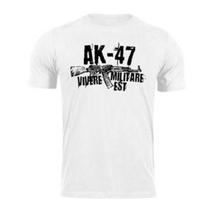 WARAGOD tricou Seneca AK-47, alb 160g/m2 imagine