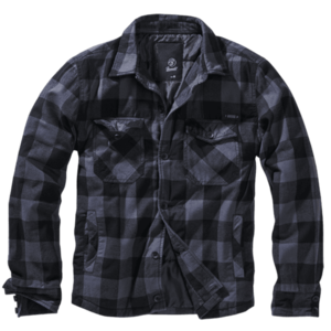 Brandit Lumberjacket bunda, gri cu negru imagine