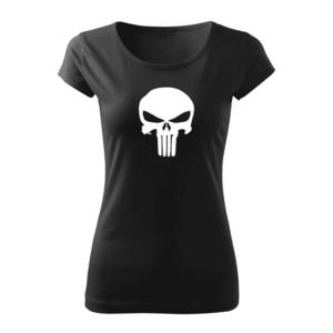 WARAGOD tricou de damă punisher, negru 150g/m2 imagine