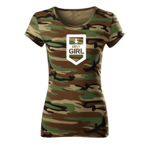 WARAGOD tricou de damă camuflaj army, 150g/m2 imagine