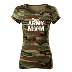 WARAGOD tricou de damă camuflaj army mom, 150g/m2 imagine