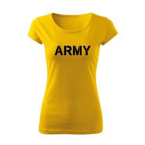 WARAGOD tricou de damă army, galben 150g/m2 imagine