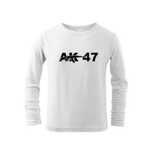 WARAGOD Tricouri lungi copii AK47, alb imagine