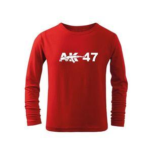 WARAGOD Tricouri lungi copii AK47, roșu imagine