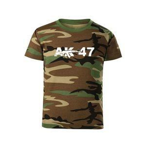 WARAGOD Tricou de copii scurt AK47, camuflaj imagine