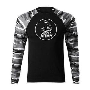 WARAGOD Fit-T tricou cu mânecă lungă muscle army, metro160g/m2 imagine