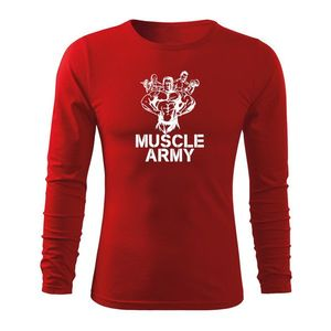 WARAGOD Fit-T tricou cu mânecă lungă army, roșu 160g/m2 imagine