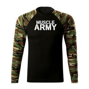 WARAGOD Fit-T tricou cu mânecă lungă muscle army, woodland160g/m2 imagine