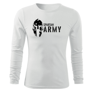 WARAGOD Fit-T tricou cu mânecă lungă spartan army, alb 160g/m2 imagine