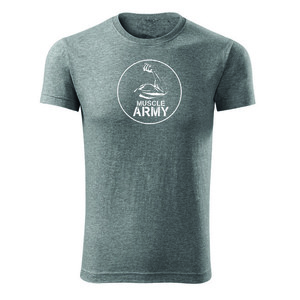 WARAGOD tricou Army, gri 160g/m2 imagine