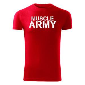 WARAGOD tricou pentru bărbați de fitness muscle army, roșu 180g/m2 imagine