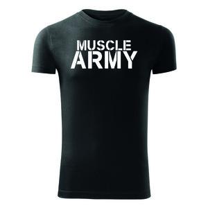 WARAGOD tricou pentru bărbați de fitness muscle army, negru 180g/m2 imagine