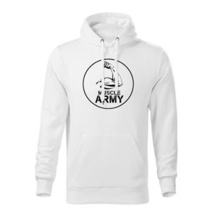 WARAGOD hanorac barbati cu gulgă muscle army, alb 320g / m2 imagine