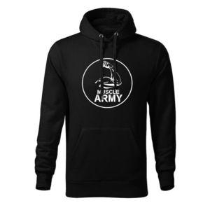 WARAGOD hanorac barbati cu gulgă muscle army, negru 320g / m2 imagine