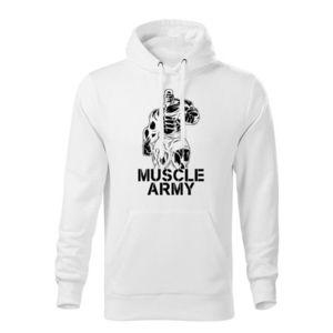 WARAGOD hanorac barbati cu gulgă muscle army man, alb 320g / m2 imagine