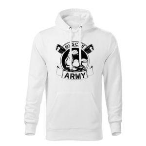 WARAGOD hanorac barbati cu gulgă muscle army original, alb 320g / m2 imagine