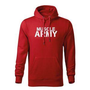 WARAGOD hanorac barbati cu gulgă muscle army, roșu 320g / m2 imagine