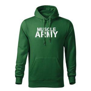 WARAGOD hanorac barbati cu gulgă muscle army, verde 320g / m2 imagine