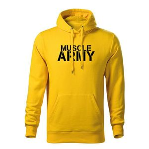 WARAGOD hanorac barbati cu gulgă muscle army, galben 320g / m2 imagine