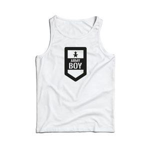 Waragod maieu pentru bărbați Army boy, alb 160g/m2 imagine