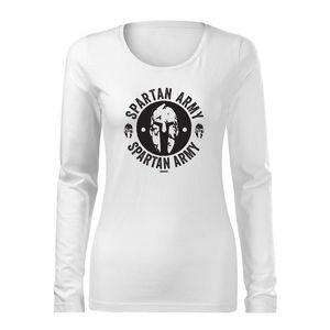 Tricouri lungi pentru femei cu design Spartan Army imagine
