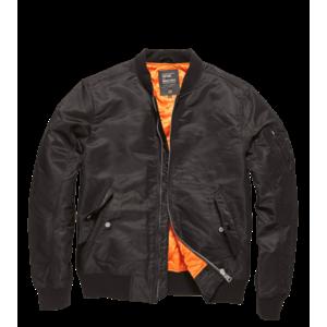 Jachetă de tranziție Vintage Industries Bomber Welder, neagră imagine