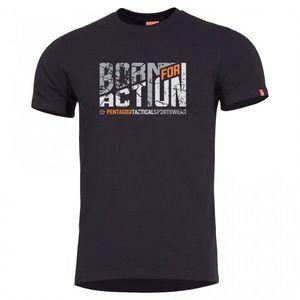 Tricou Pentagon Born for Action, negru imagine