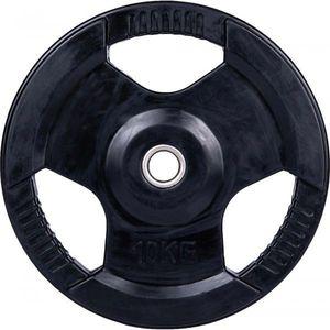 Fitforce PLR-10KG30MM negru 10 KG - Disc cauciucat de încărcare imagine