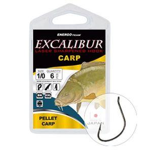 Carlige Excalibur Carp Curved Shank BN (Marime Carlige: Nr. 1) imagine