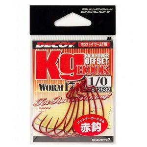 Carlige Offset Decoy Worm 17R (Marime Carlige: Nr. 1) imagine
