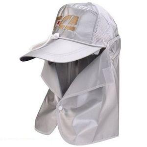 Sapca Tica cu protectie UV ceafa, alb imagine