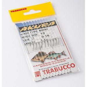 Carlige legate Trabucco Akura pentru caras, rosioara, scobar, 10buc (Marime Carlige: Nr. 6) imagine