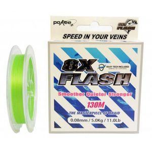 Fir textil Pokee 8X Flash Smart PE, Lime Green, 130m (Diametru fir: 0.08 mm) imagine