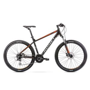 Bicicleta de munte pentru barbati Romet Rambler R7.2 Negru/Portocaliu 2021 imagine