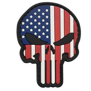 WARAGOD Petic 3D US Patriot Punisher 6x4.5cm imagine