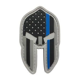 WARAGOD Petic 3D US Spartan Helmet blue line 7x4.2cm imagine