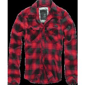 Brandit Checkshirt Cămașă, roșu-negru imagine