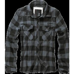 Brandit Checkshirt Cămașă, gri-negru imagine