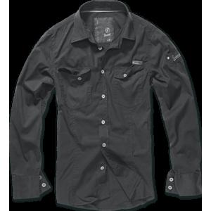 Brandit Slimfit cămașă, negru imagine