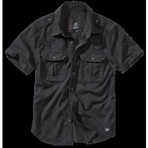 Brandit Vintage cămașă pentru bărbați cu mânecă scurtă 1/2, neagră imagine