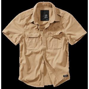 Brandit Vintage cămașă pentru bărbați cu mânecă scurtă 1/2, khaki imagine