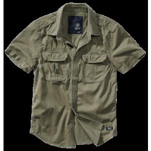 Brandit Vintage cămașă pentru bărbați cu mânecă scurtă 1/2, măslinie imagine