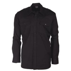 Mil-tec Ripstop cămașă cu mânecă lungă, negru imagine