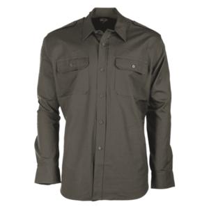 Mil-tec Ripstop cămașă cu mânecă lungă, oliv imagine
