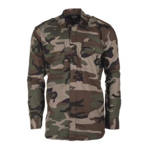 Mil-tec Ripstop cămașă cu mânecă lungă, woodland imagine