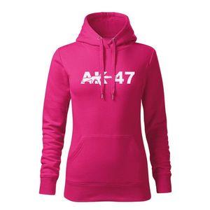 WARAGOD hanorac femei cu gulgă ak47, roz 320g / m2 imagine