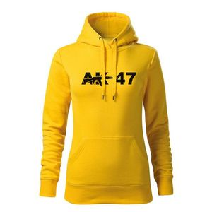 WARAGOD hanorac femei cu gulgă ak47, galben 320g / m2 imagine