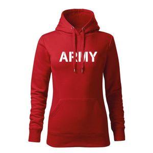WARAGOD hanorac femei cu gulgă army, roșu 320g / m2 imagine